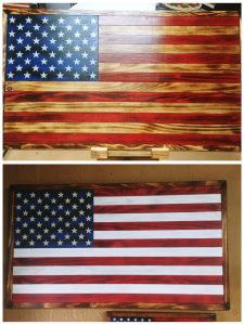 Rustic Wood Flags by Wedge